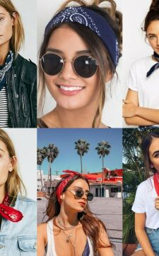 Бандана на голову – стильный аксессуар для повседневности