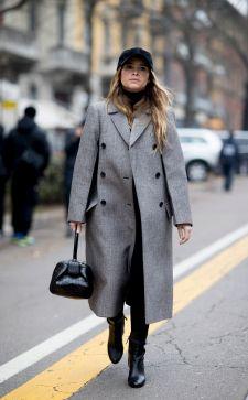 Безупречные оттенки серого в моделях женских пальто