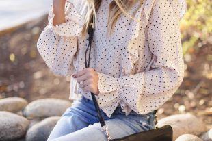 Блузка в горошек: все о фасонах, вариантах принтов и расцветках
