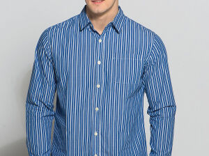 Как и с чем носить мужскую рубашку в полоску
