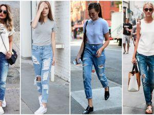 С чем носить джинсы бойфренды в 2018 году