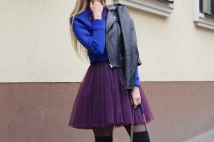 С подиумов на городские улицы: юбка из органзы