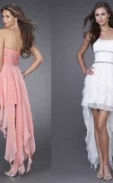 Платье-маллет: модные свадебные и вечерние образы
