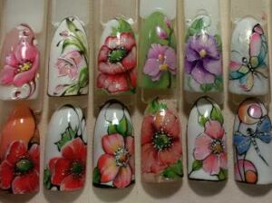 Дизайн ногтей по мокрому гель-лаку