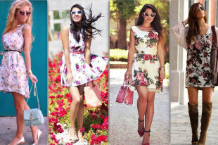 Модные платья с цветочным рисунком: женственные фасоны и аксессуары