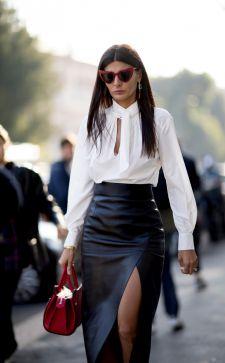 Элегантная юбка с завышенной талией: несколько стильных образов нового сезона