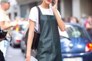 Стильные кожаные платья: последние тенденции 2018 года