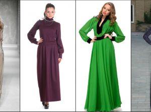 Стильные фасоны длинных платьев: вечерние на выпускной и повседневные летние