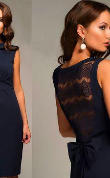 Платья со вставками из кружева, гипюра или шифона