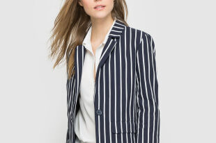 Женский пиджак в тонкую полоску — с какой одеждой сочетать