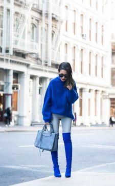 Синие сапоги – изысканный элемент модного гардероба