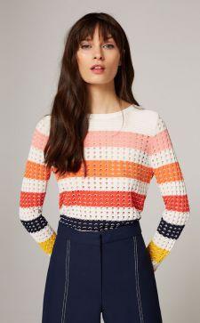 Ажурный пуловер в гардеробе городской модницы: с чем носить