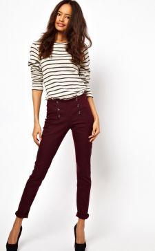 С чем носить бордовые брюки: модели и фасоны, советы стилистов