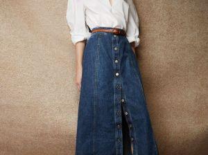 С чем носить длинную джинсовую юбку: советы профессионалов