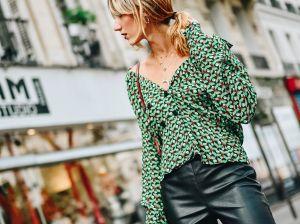 Зеленая блузка — ярко и стильно