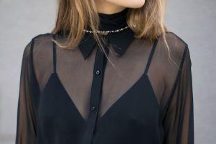 Прозрачная блузка: выразительный силуэт для ультрамодных луков