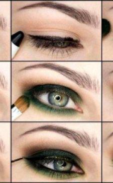 Тени для зеленых глаз: фото, процесс пошагово