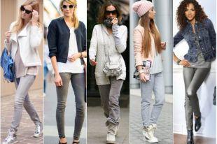 С чем носить серые джинсы: фото, популярные образы и советы стилистов