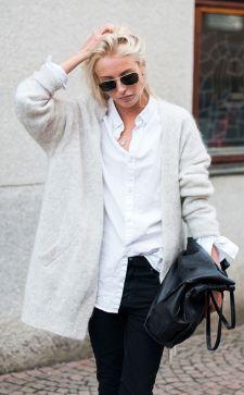Белый кардиган – украшение женского гардероба