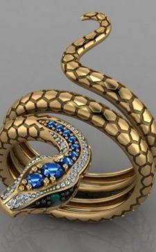 Кольцо-змея: особенности и актуальные модели