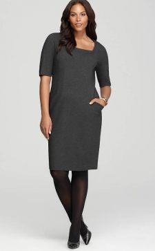 Платье-футляр для полных женщин: особенности и преимущества