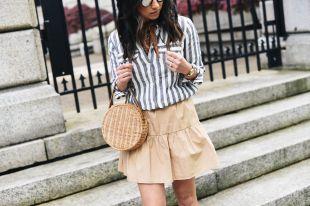 Бежевая юбка: универсальный предмет гардероба современной модницы