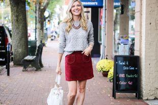 Бордовая юбка – выбор стильных женщин 2018 года
