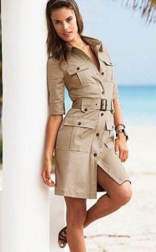 Платье в стиле сафари: идеальный вариант изделия под любую фигуру
