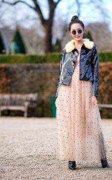 Платье с фатином – универсальный наряд на все случаи жизни