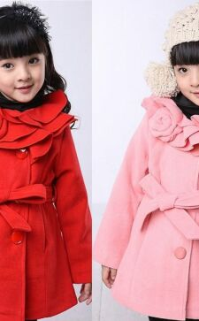 Пальто для девочек: поиск индивидуального стиля с детства