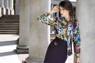 Модные женские блузки из шифона или шелка