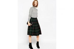 Теплые юбки из драпа — фасоны карандаш, с запахом и другие