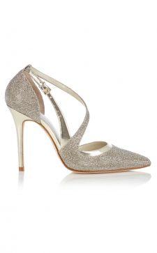 С чем сочетать блестящие туфли