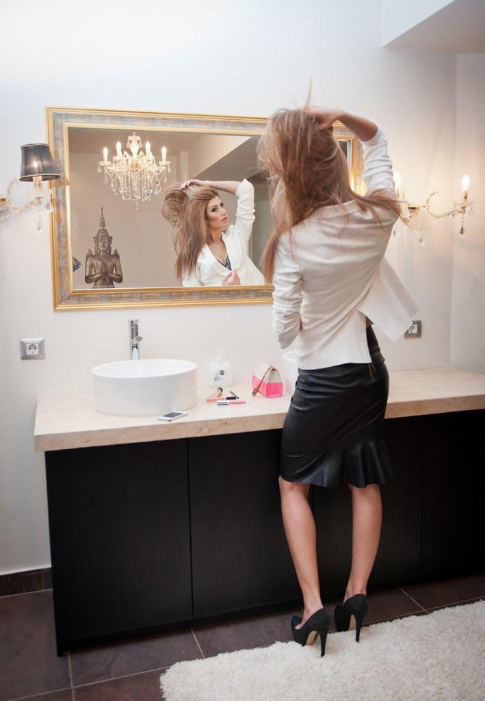 Черная миди юбка годе