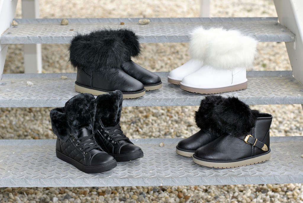 Ботинки с отделкой из меха