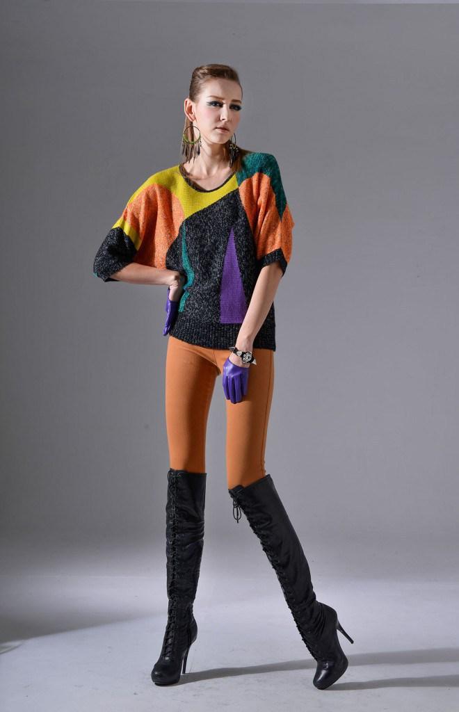 Ботфорты со свитером