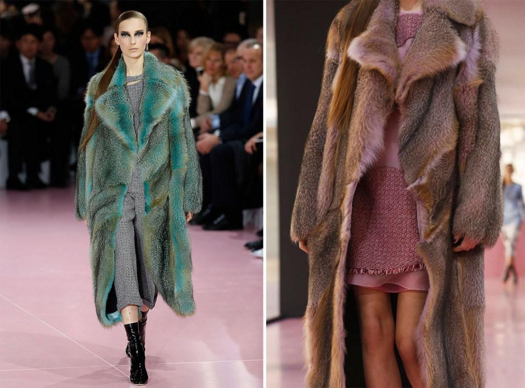Шубы Christian Dior