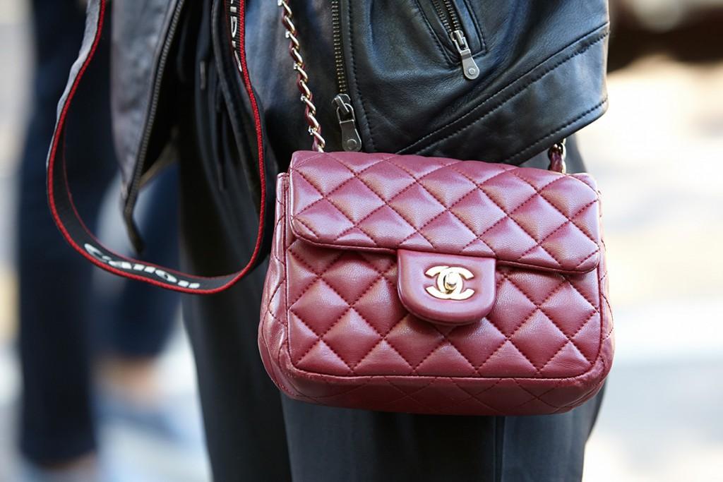 Бордовая сумочка Шанель