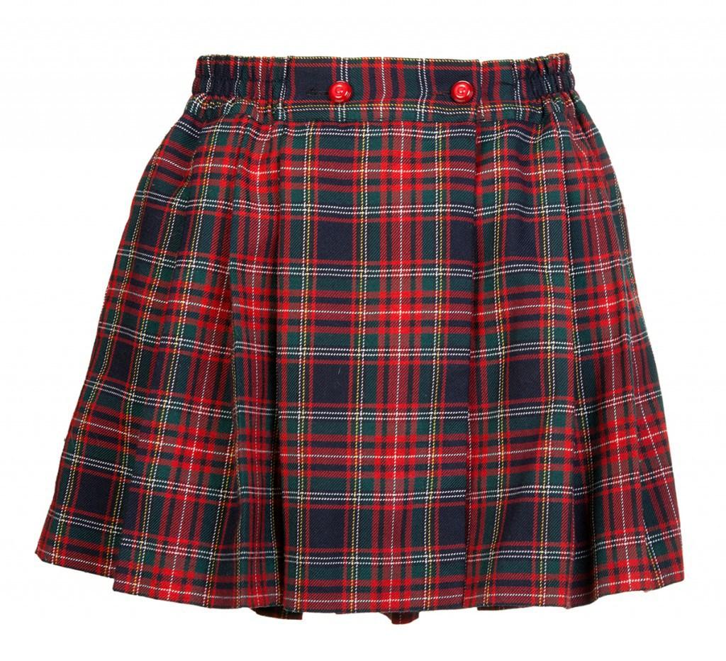 """Юбка из ткани """"шотландка"""""""