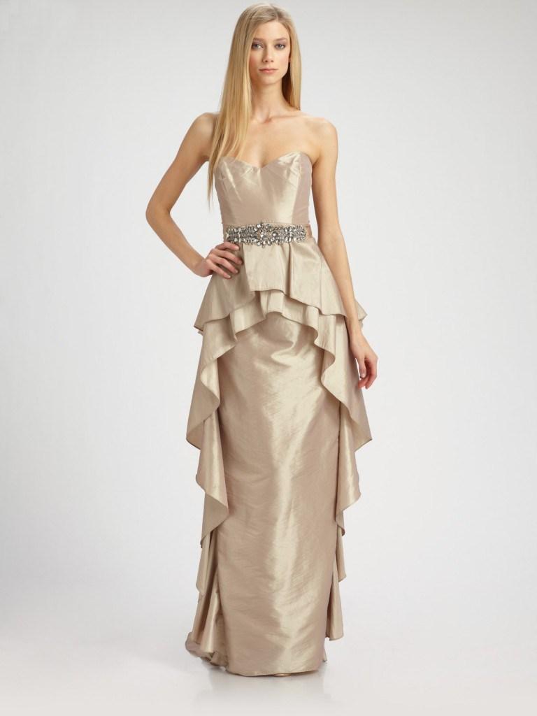 Платье с баской от Badgley Mishka