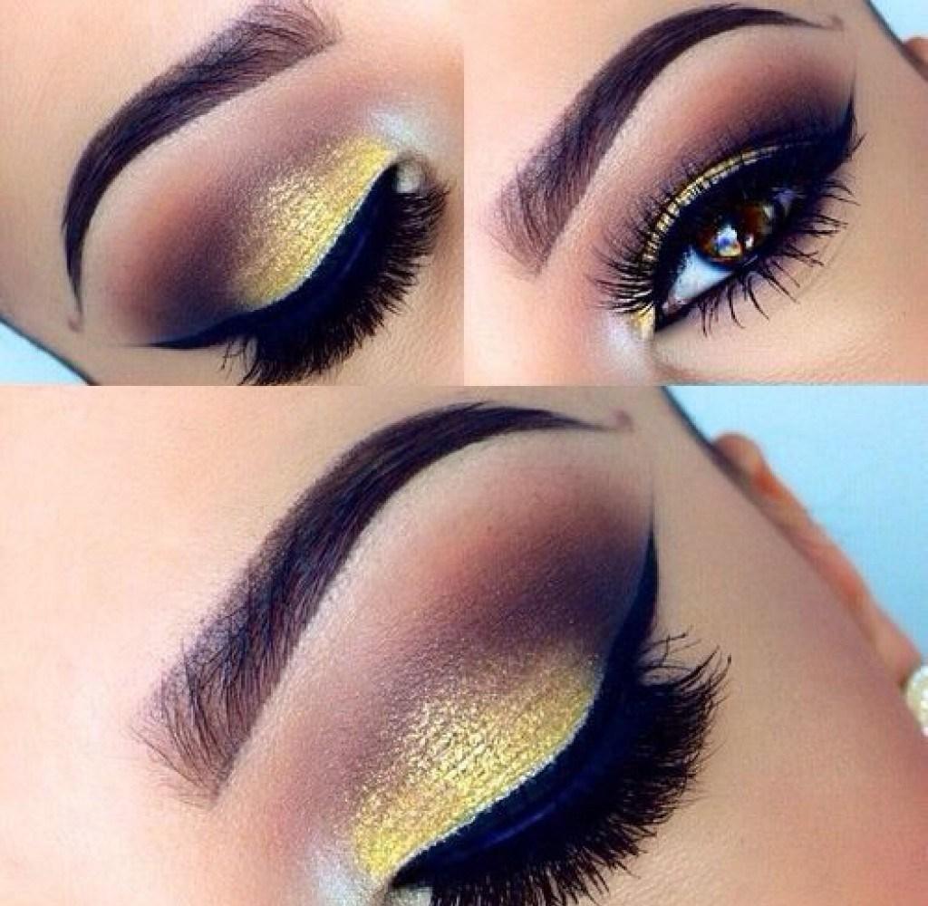 Цветной макияж со стрелками