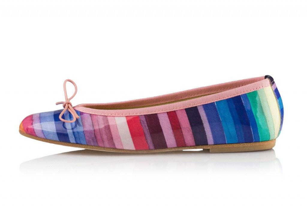 Яркие разноцветные балетки