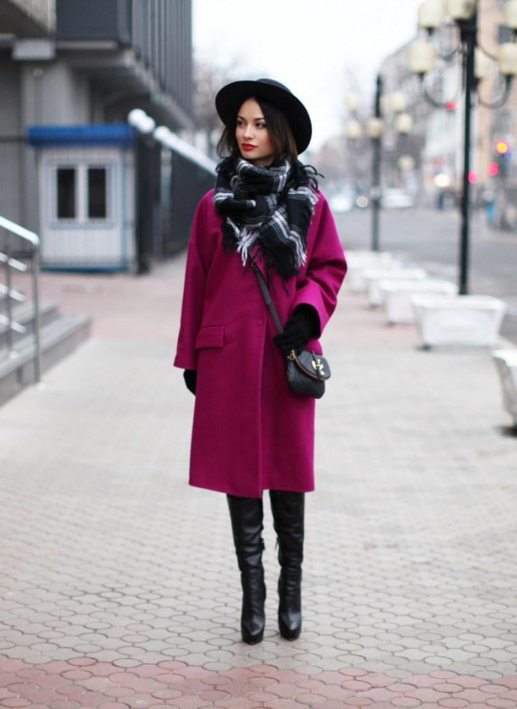 Пальто со шляпой