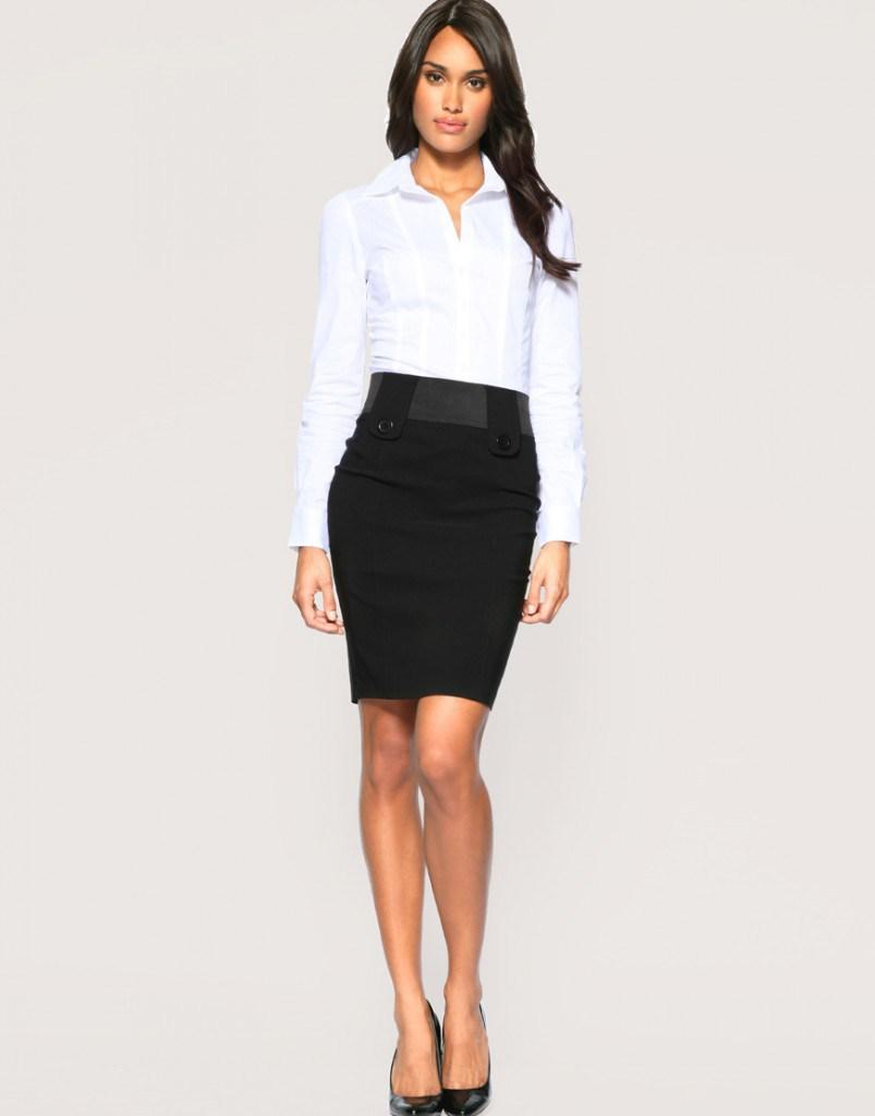 Черная юбка для офиса