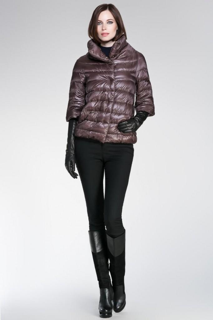 Перчатки до локтя с курткой
