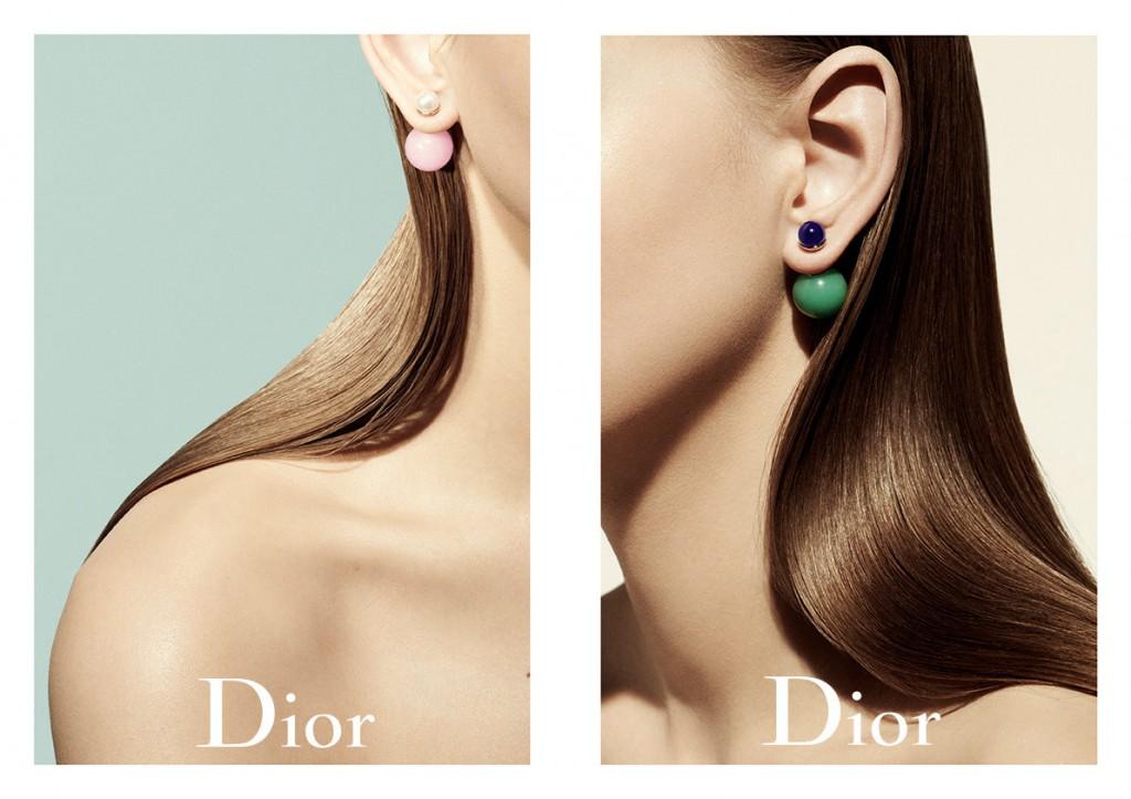 Двусторонние пусеты Dior