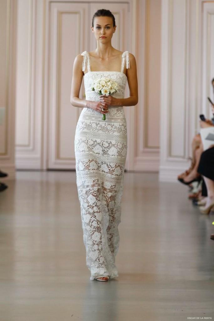 Свадебное платье из коллекции Oscar de la Renta 2017