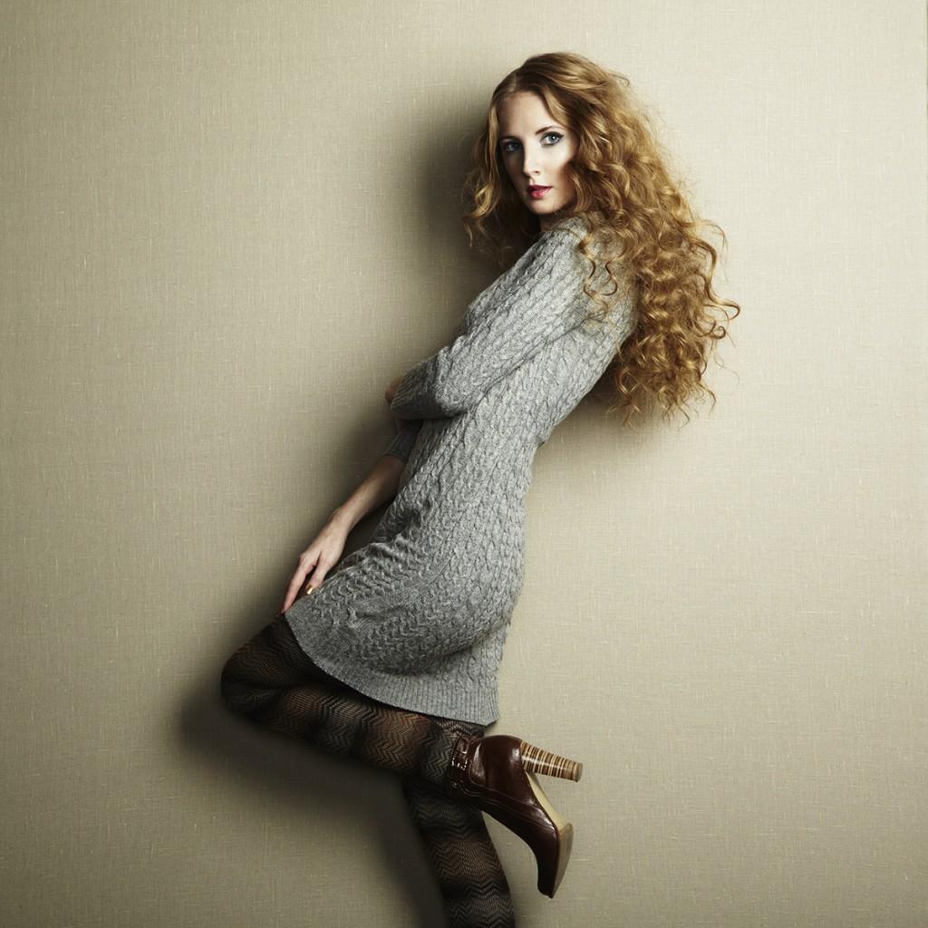 Красивое зимнее платье
