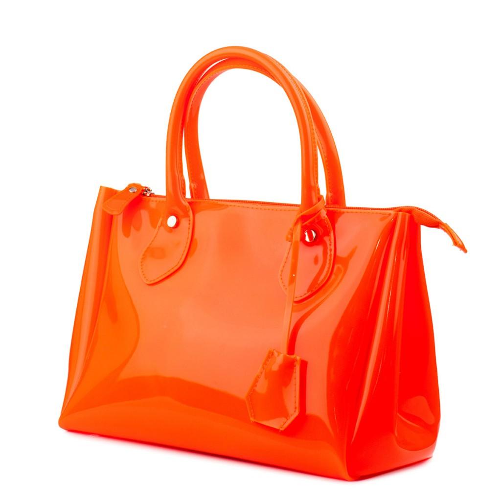 Яркая оранжевая сумка