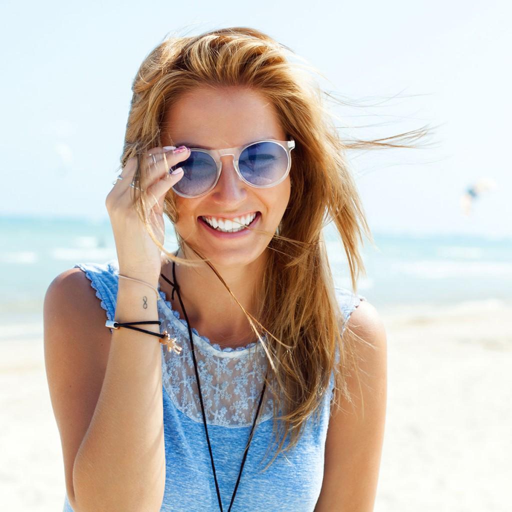 Солнцезащитные очки с полупрозрачными линзами